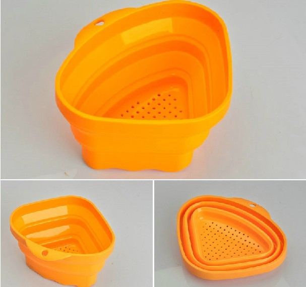 Allforhome™ Silicone Expandable Collapsible Triangle Basket