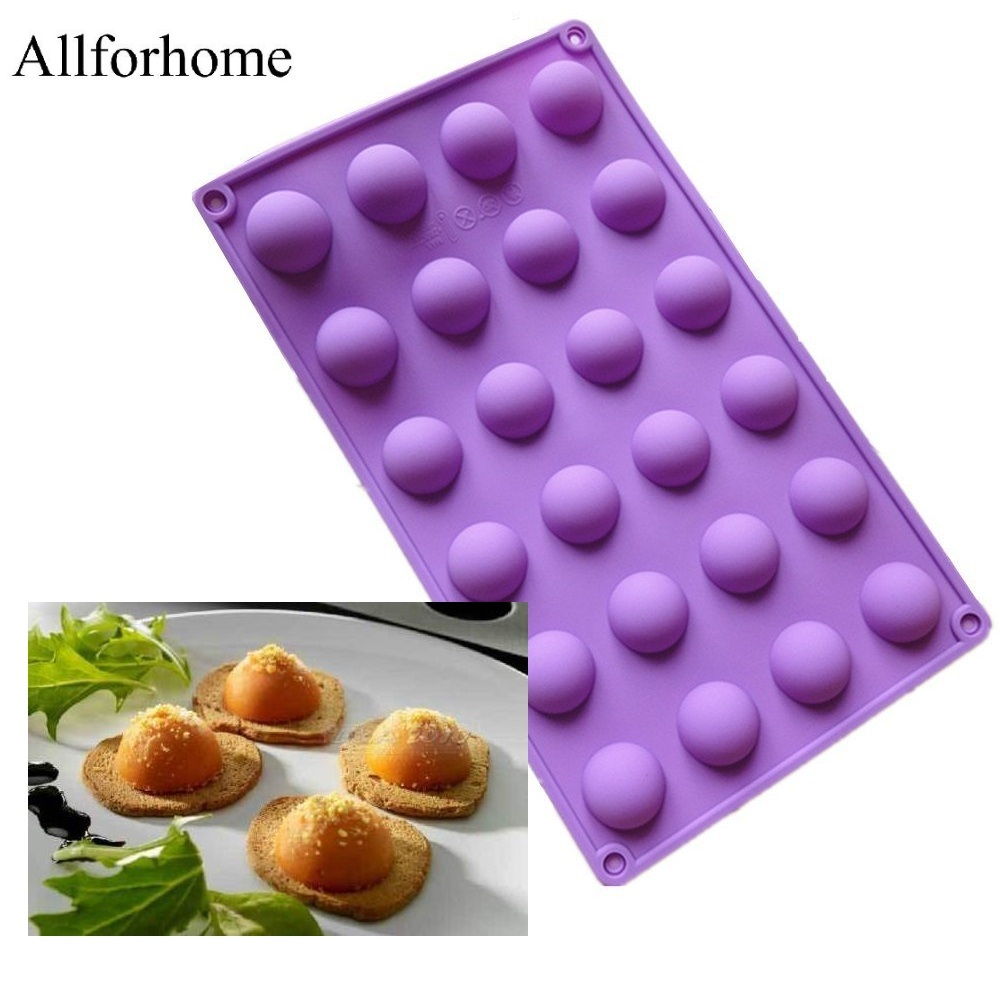 Allforhome™ 24 Cavity Mini Half Sphere chocolate candy mold
